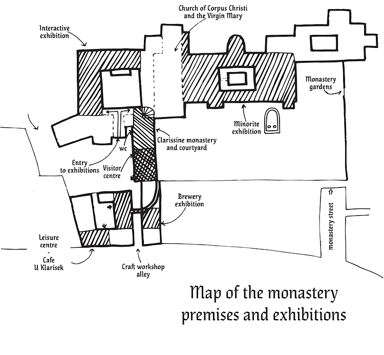 Map of the monastery premises and exhibitions